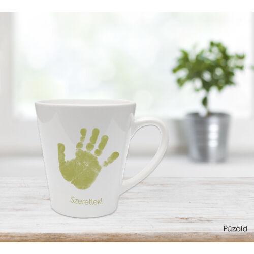 Közepes latte bögre - főzöld / Latte mug - Grass green