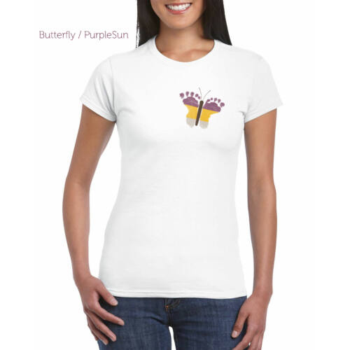 Női top  fehér - Pillangós PurpleSun