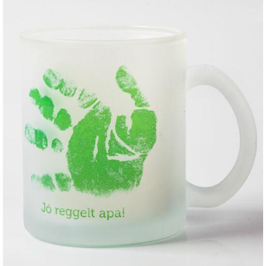 Üveg bögre fűzöld / Glass mug